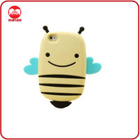 Soft 3D Animal Small Bee Shaped Silicone Mobile Phone Case for iphone4/4s