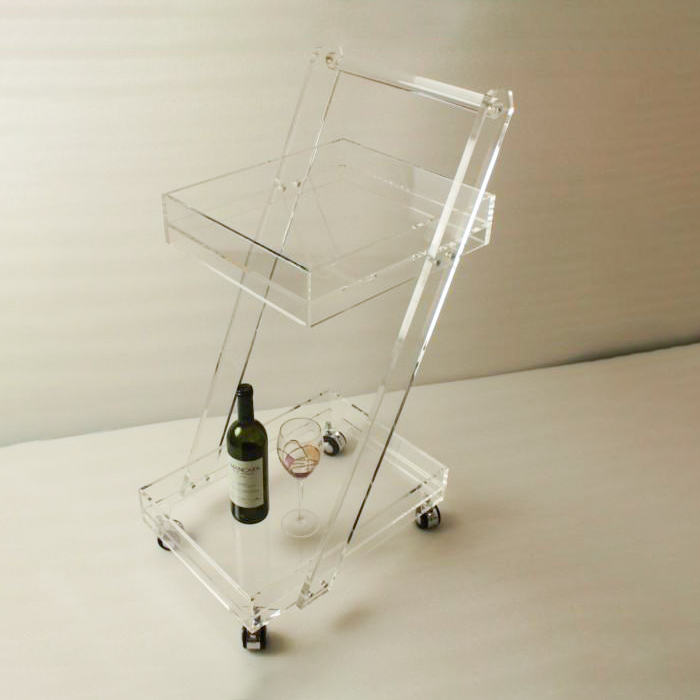 Practical Commercial Furniture Salon Trolley Cart Pedicure Trolley Glass Serving Trolley