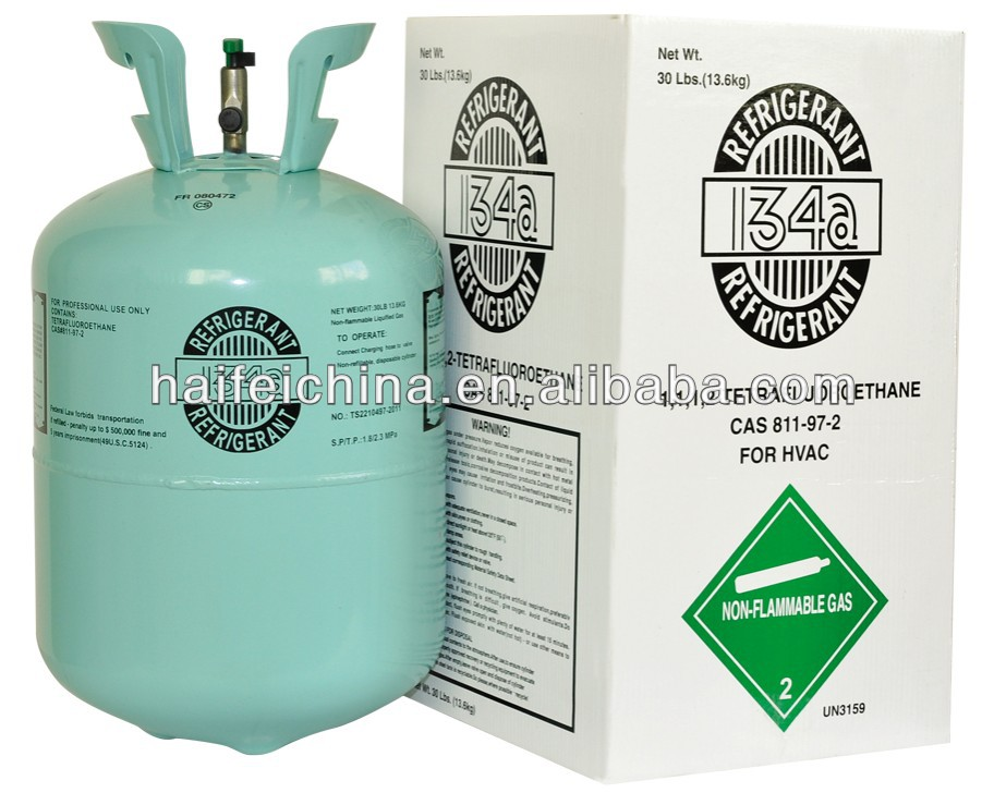 air conditioning system refrigerant gas R134a