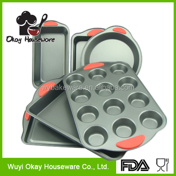 OKAY BK-D6095 Carbon Steel Non-stick 6-piece bakeware set
