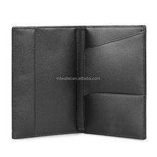 newly design top quality black color 10*14cm full grain leather passport wallet