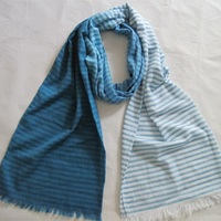 XH-1249 New 100% cotton Fashion ladies stripe scarf