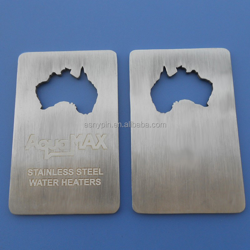 Credit Card metal matt silver bottle openers