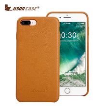 Jisoncase real Leather Custom Phone Case Cover for iPhone 7 Plus