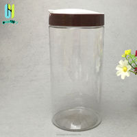 1.5L 1500ml new style PET clear plastic jar and container for food with open lid