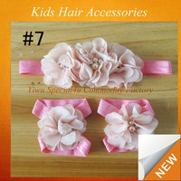 Wholesale cheap flower crown headband beautiful feather flower hair accessories CLKA-014