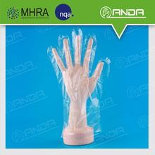 AD007 Clean Properties Cheap disposable medical transparent pe glove