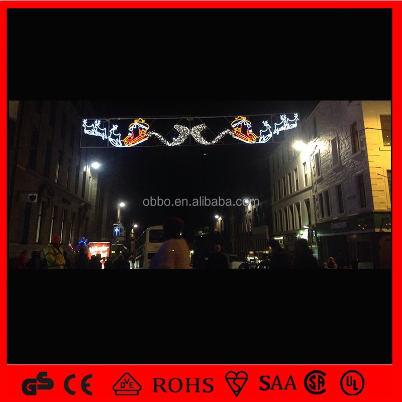 Holiday time 2d motif outdoot light LED street decorative light
