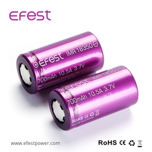 Top selling 18350 battery original Efest purple 18350 IMR 18350 700mah 10.5A battery