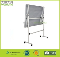 High usage mobile white board easel
