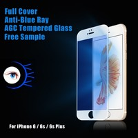 New product mobile phone 3D silicon frame full cover blue light cut tempered glass screen protector for Iphone 6/ 6s plus