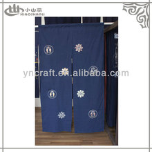 Japanese style blue curtains portieres