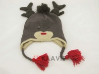 ski imitate animal antlers christmas beanie hat