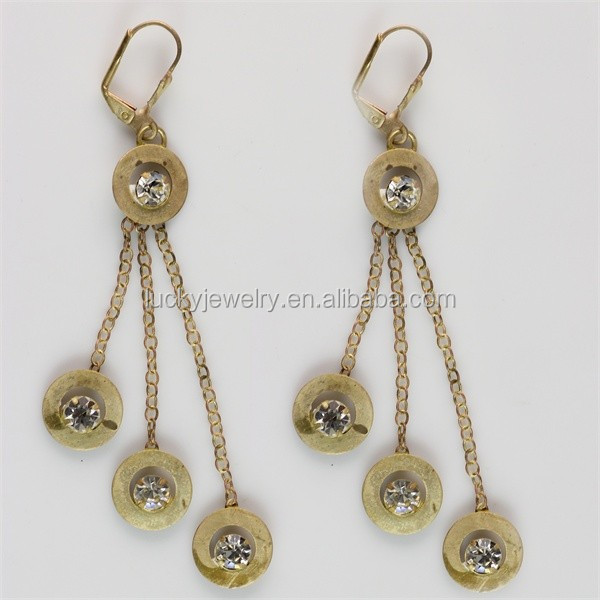 Fashionable Jewelry Gold Earrings Designs For Girls 24 Carat Gold Earrings