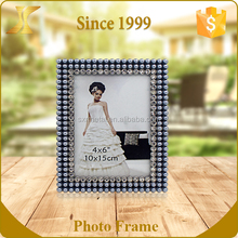Latest rhinestones and pearls jewelled inlay metal alloy picture photo frame
