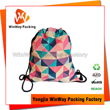 Recycled Polyester Sublimation Printing Drawstring Backpack Bag