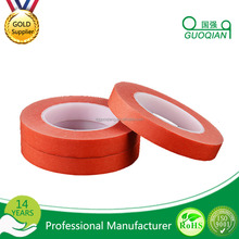 Automotive Masking Tape Red Color Textured Crepe Paper Paint Masking Tape