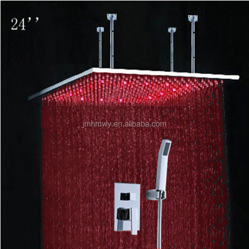 shower parts Jiangmen hengmei water power led light rain square shower parts