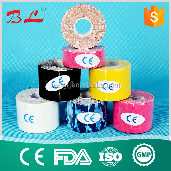 High Quality Waterproof Muscle Sports Printed 5m Precut K Tape kinesiology tape for athletes