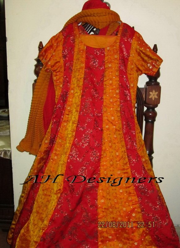 Banarsi Anarkali frock/pishwas with churidar