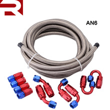 16FT AN6 Stainless Steel Braided Motorcycle Fuel Line