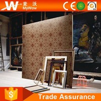 Modern Luxury Design Wall Paper Flock Natural Bamboo Chinese Silk Wallpaper