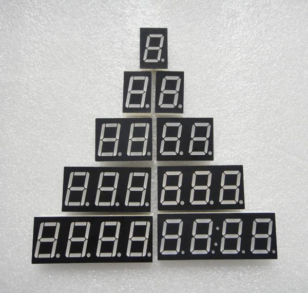 7 seg 0.8 inch 3 digit 7 segment led display high red common anode