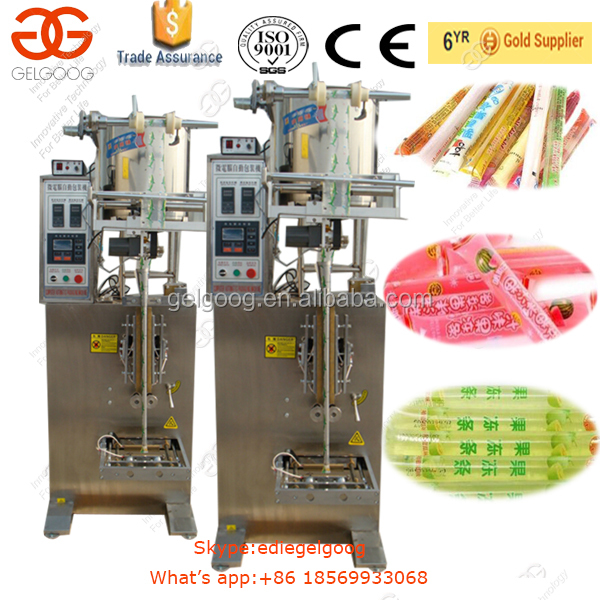 Automatic Fruit Juice Ice Lolly Jelly Stick Sachet Filling Packing Machine