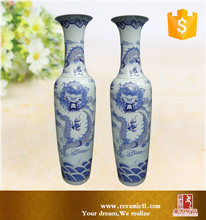 Dragon carven unique Chinese large floor vases