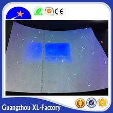 A4 size Anti counterfeit certificate paper with invisible Red and blue UV fiber