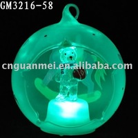 christmas animate animal hanging ball indoor decoration with LED light