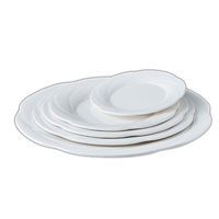 Top food grade restaurant plates set catering100% melamine dinner round plate