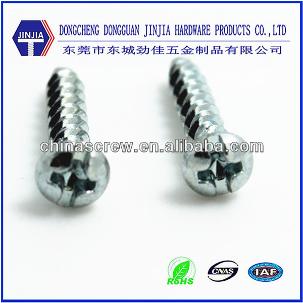 m2.95*14 ROHS zinc thread forming small size round head screws for plastic