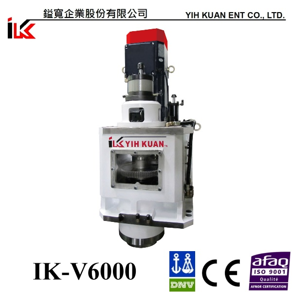 Vertical Gear Milling Machine Head (IK-V6000) CNC Milling and Cutting Metal Head