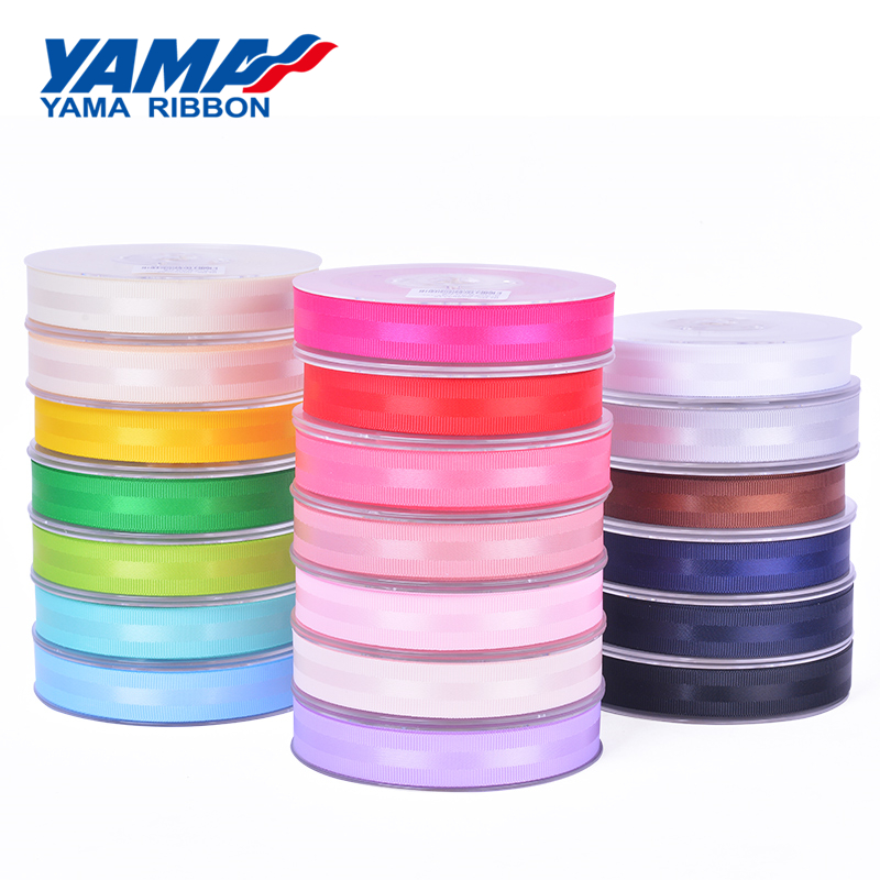 Hot sale YAMA double faced 100% polyester woven satin ribbon