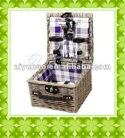 Wicker/willow pet basket with natural willow material