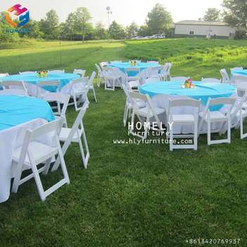 wedding stacking padded resin folding chair HY-R45