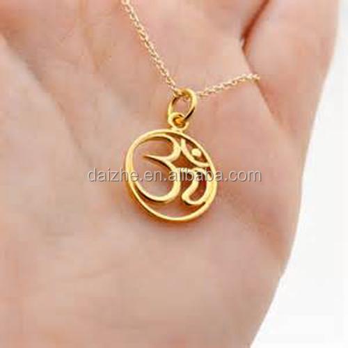 Nuevo dise o de oro joyer a yoga om colgante collar de for Disenos de joyas en oro