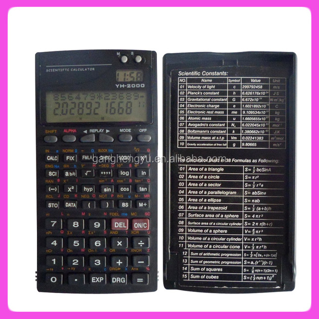 Educational Electronic Digital 2-line LCD Display Scientific Calculator YH-2000