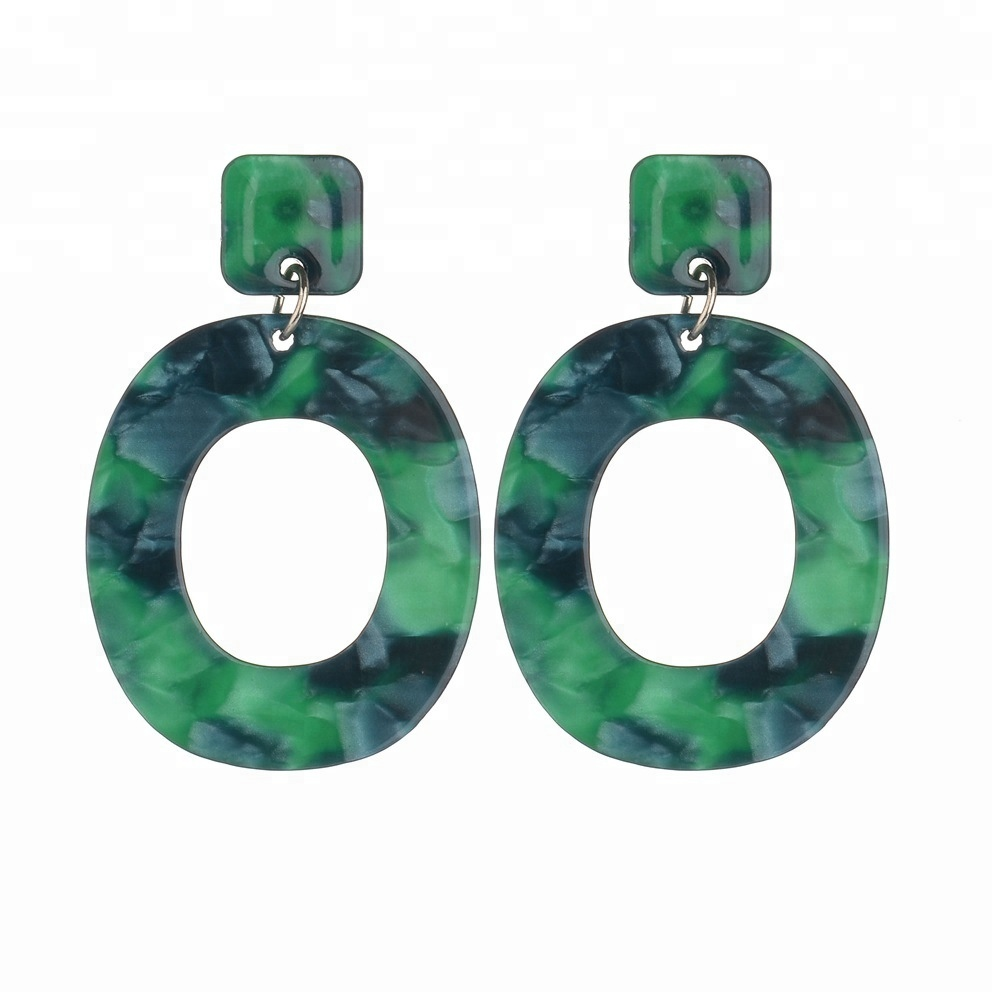 New design geometric figure drop resin <strong>earrings</strong>