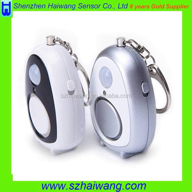 On sale Multi-function plastic personal alarm with Light and PIR sensor