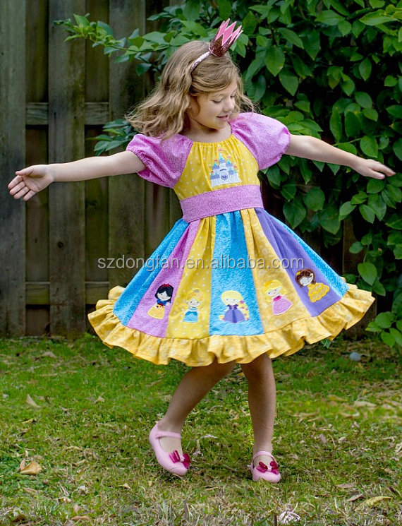 2017 Spring New Arrive Little Princess Embroidery Dress Baby Girls Frock Design Picture