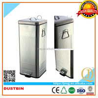 Professional manufacture metal squared recycling outdoor waste bin