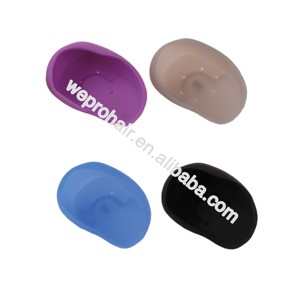 Professional hairdressing silicon hair dye ear cap