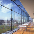 Exterior Interior Modelling Concise Aluminium Frame LOWE mirror Glass Curtain Wall glass wall prices