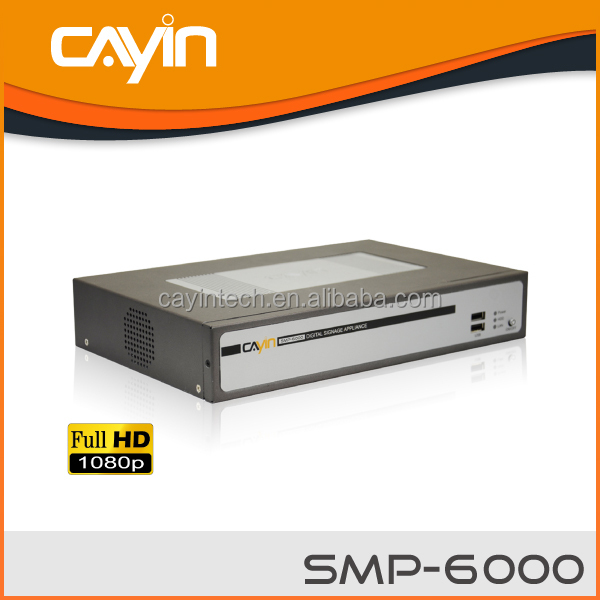 Network 1080p Advertising Digital Signage Media Player with Software
