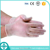 Wholesale top quality transparent disposable vinyl gloves