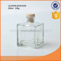 Square Glass Vials, Essential Oil Bottles,Glass Perfume Bottles with cork