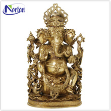 Simple design brass ganesh statue for sale NTBS-165Y