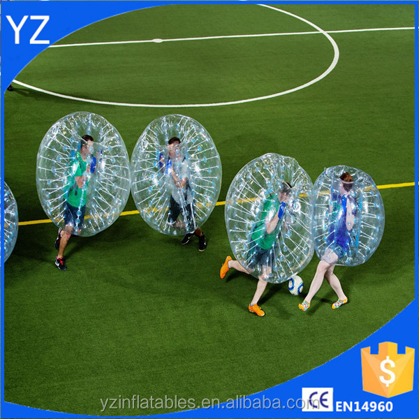 Inflatable ball suit buddy bumper ball for adult /inflatable human soccer bubble ball for football